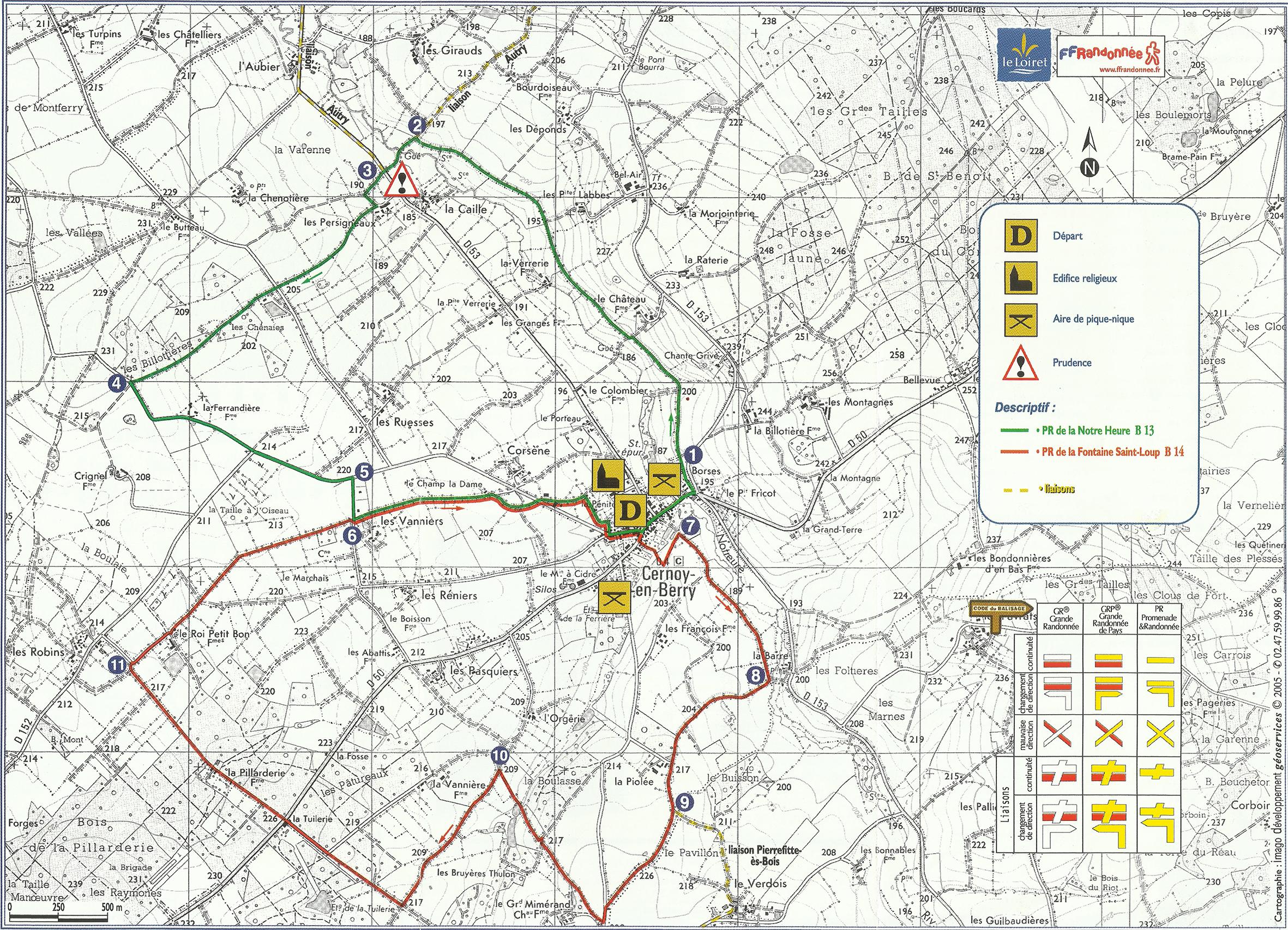 plan de randonnées web